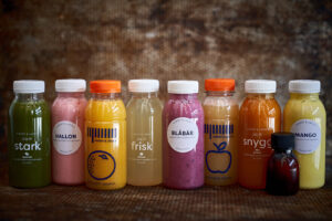 Eget sortiment av smoothie, juicer och blends